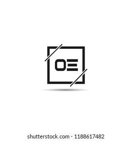 Initial Letter OE Logo Template Design