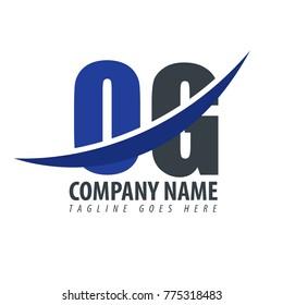 Initial Letter OG Overlapping Logo