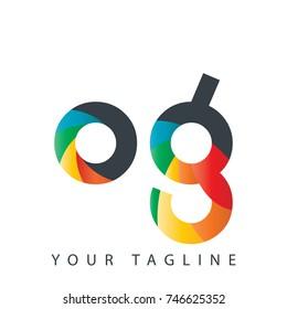 Initial Letter OG Rounded Design Logo