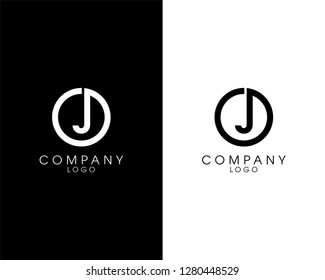 initial letter oj/jo logotype company name design. vector logo for business and company identity
