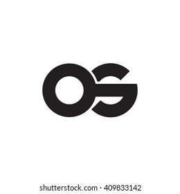 initial letter os linked round lowercase monogram logo black