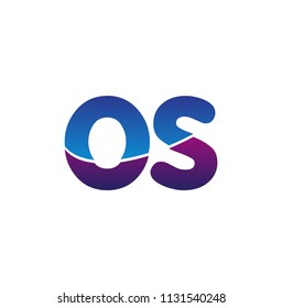 Initial Letter OS Logo Lowercase, colorful logotype Modern and Simple Logo Design.