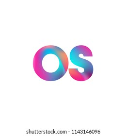 Initial Letter OS Logo Lowercase colorful design, Modern and Simple Logo Design.