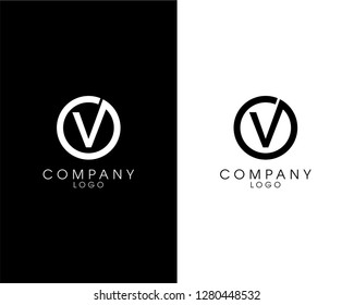 initial letter ov/vo logotype company name design. vector logo for business and company identity
