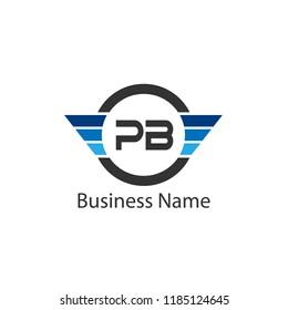 Initial Letter PB Logo Template Design