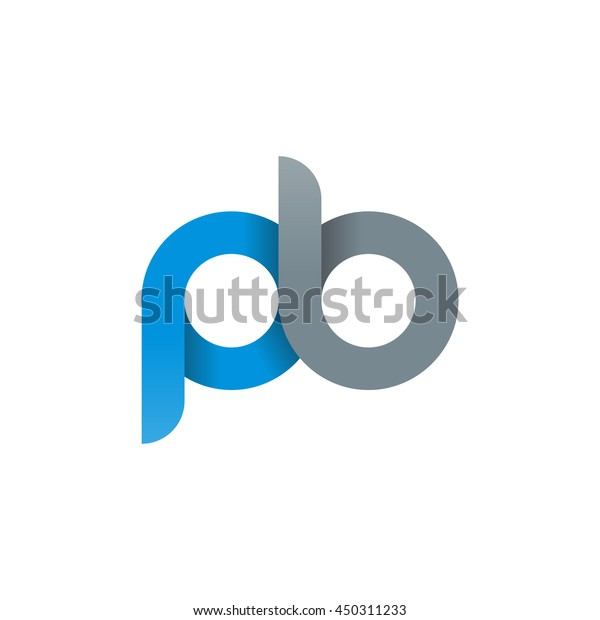 Abstract B Logotype: Initial Letter Pb Modern Linked Circle Stock Vector