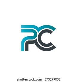 Initial Letter PC Linked Design Logo