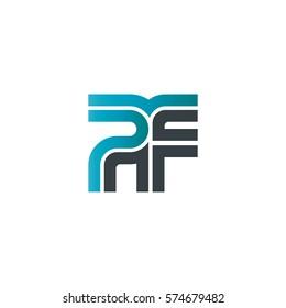 Initial Letter PF Linked Design Logo