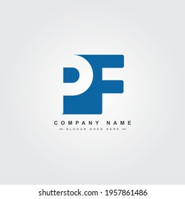 Initial Letter PF Logo - Simple Business Logo