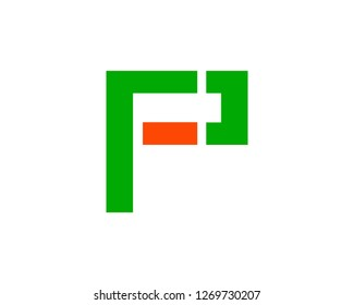 Initial Letter PF Logo Template Vector Design