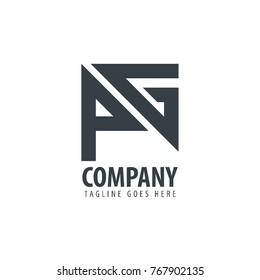 Initial Letter PG Design Logo