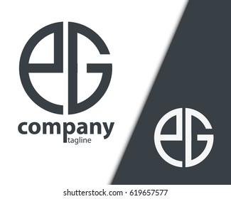 Initial Letter PG EG With Linked Circle Logo
