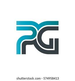 Initial Letter PG Linked Design Logo