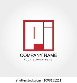 Initial Letter PI  Logo Design
