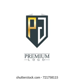 Initial Letter PJ Company Design Logo Template
