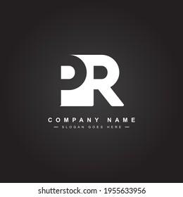 Initial Letter PR Logo - Minimal Business Logo