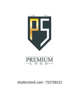 Initial Letter PS Company Design Logo Template