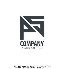 Initial Letter PS Design Logo