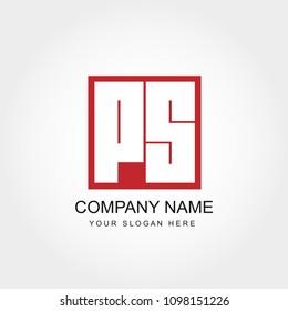 Initial Letter PS  Logo Design