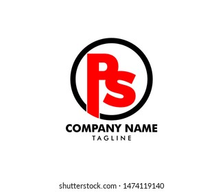 Initial Letter PS Logo Template Design