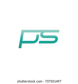 initial letter ps thin logo design