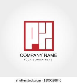 Initial Letter PZ Logo Template Vector Design