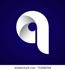 Initial Letter Q Rounded Lowercase Logo. Logo template.