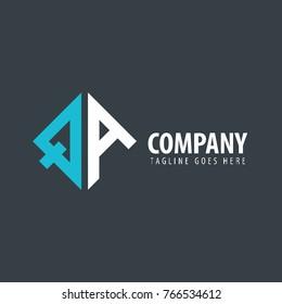 Initial Letter QA Design Logo