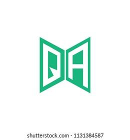 Initial Letter QA Hexagonal Geometric Logo Design