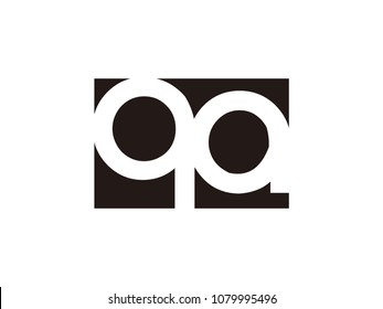 Initial letter qa lowercase logo black and white