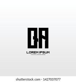 Initial letter QA minimalist art logo vector