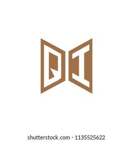 Initial Letter QI Hexagonal Shape Logo Design