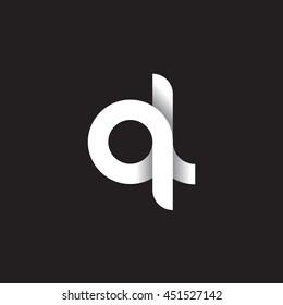 initial letter ql modern linked circle round lowercase logo white black background