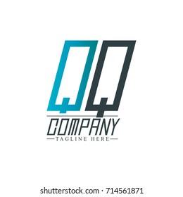 Initial Letter QQ Design Logo Template