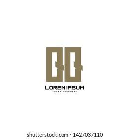 Initial letter QQ minimalist art logo vector