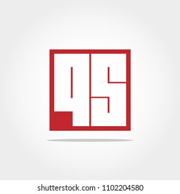 Initial Letter QS Logo Template Vector Design