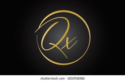 Initial letter QX logo design with modern business typography vector template. Creative isolated QX letter logo design