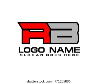Initial letter R & B logo template vector