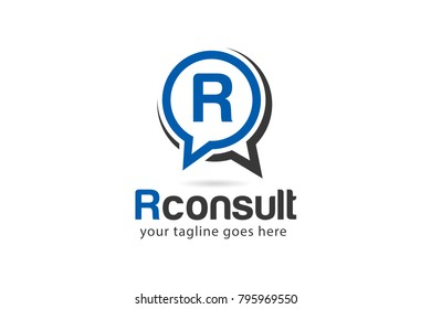 Initial Letter R Consulting Agency Logo Design