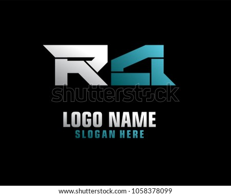 f6bf59657 Vetor stock de Initial Letter R Logo Template Vector (livre de ...