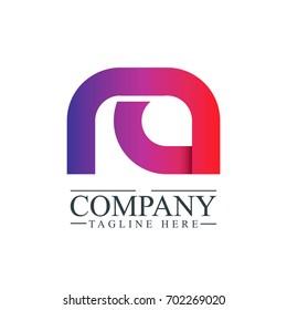 Initial Letter RA Linked Design Logo