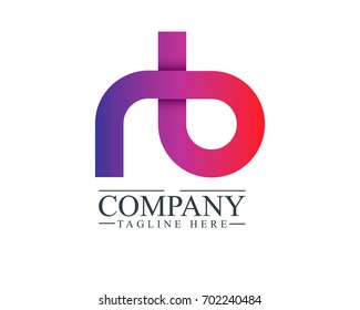 Initial Letter RB Linked Design Logo