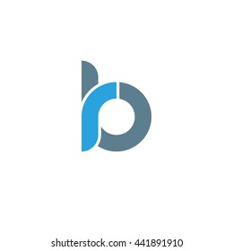 initial letter rb linked round lowercase logo blue
