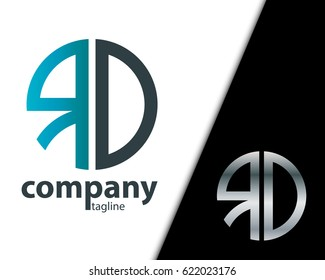 Initial Letter RD With Linked Circle Logo