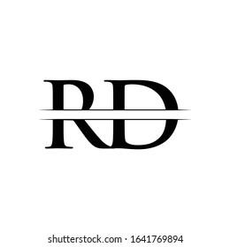 Initial Letter RD Linked Logo Vector Template. RD Logo Design