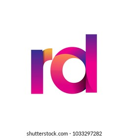 Initial Letter RD Logo Lowercase, magenta and orange, Modern and Simple Logo Design.