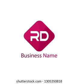 Initial Letter RD Logo Template Design
