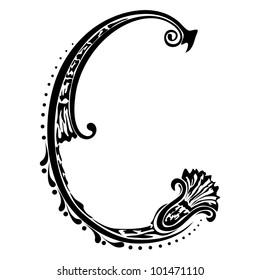 Letter C Cursive Calligraphy Images, Stock Photos & Vectors ...