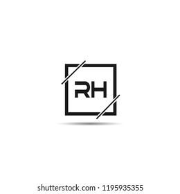Initial Letter RH Logo Template Design