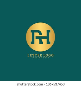 Initial Letter RH logotype company name monogram design for Company and Business logo.